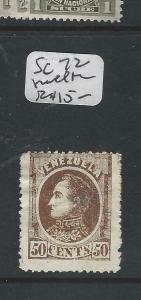 VENEZUELA  (P0706B)  50C   SC 72  SMALL  THIN      MOG