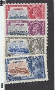 ANTIGUA  # 77-80 VF-MLH 1935 KING GEORGE V SILVER JUBILEE CAT VALUE $22