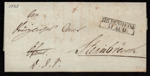 $German Stampless Cover, Hildesheim (1828)