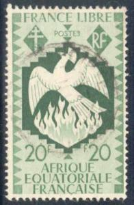 French Equatorial Africa ~ #155 ~ Phoenix ~ Used