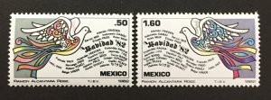 Mexico 1982 #1299-1300, Christmas, MNH.