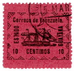 (I.B-CK) Venezuela Local Post : Guyana State 10c