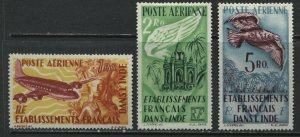 French India 1949 lovely Airmails mint o.g. hinged