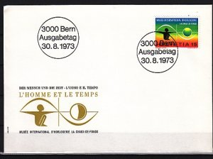 Switzerland, Scott cat. 582. Man & Time issue. First day cover. ^