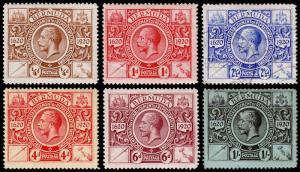 Bermuda Scott 71, 73, 75, 77-79 (1921) Mint/Used H F-VF, CV $88.75 M