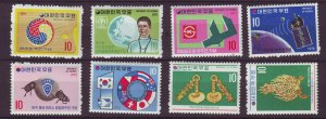 J24488 JLstamps 1971-2 south korea mnh #800-3,809,813,815,821-2 designs
