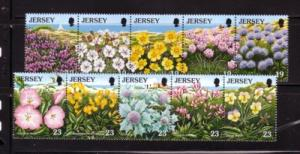 Jersey Sc 717-26 1995 Wild Flowers stamps mint NH