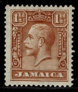 JAMAICA GV SG109, 1½d chocolate, M MINT.