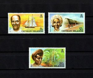 CAYMAN IS - 1974 - SHIP - WEAVER - FARMER - SEA CAPTAIN - MINT - MNH SET!