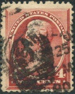 US Sc#215 1888 4c Jackson Carmine Fine Used