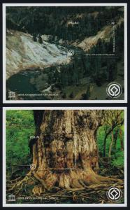 Palau 429-30 MNH UNESCO, Forests, Shirakami-Sanchi