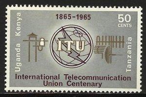 Kenya, Uganda & Tanzania 1965 Scott# 153 MH