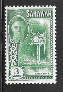 Sarawak 182: 3c Kayan Tomb, MH, F-VF