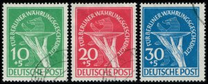 Germany #9NB1-9NB3 Currency Devaluation Set of 3; Used (2Stars)
