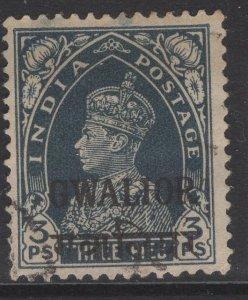 INDIA-GWALIOR SG105 1938 3p SLATE USED