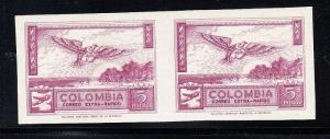 Colombia Scott C254 Mint NH imperf pair