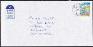 NORFOLK IS 1992 cover to NZ, 75c Christmas, VETERAN GAMES cancel...........67405