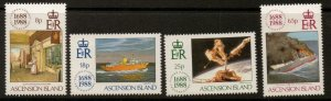 ASCENSION SG474/7 1988 LLOYDS OF LONDON  MNH