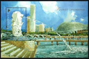 Singapore 1270 S/S, MNH. Tourist Attractions. Merlion, 2007