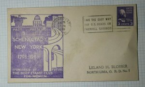 Schenectady NY Dorp Stamp Club for Women Philatelic Convention Cachet Cover 1948