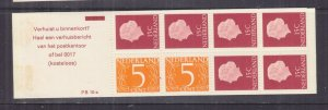 NETHERLANDS, 1971 Booklet, PB 10-a, Carmine cover, mnh.