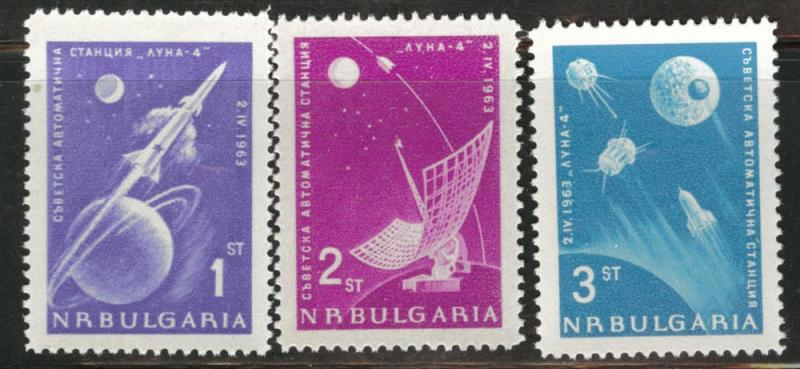 BULGARIA Scott 1278-80 MNH** 1963 Russina Rocket set