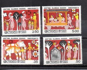 Sri Lanka 634-637 MNH