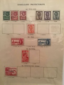 Somaliland Protectorate 1942 to 1951 stamp page R23370