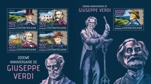 Z08 CA13406ab Central Africa 2013 Giuseppe Verdi SET Postfrisch ** MNH