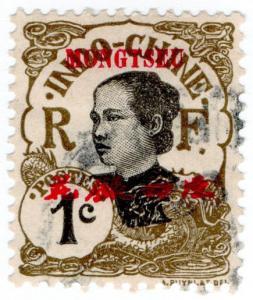 (I.B) France Colonial Postal : Indo-China 1c (Mongtseu OP)