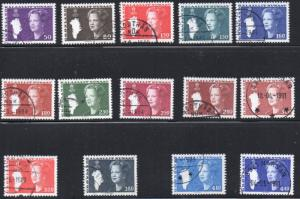 Greenland Sc 120-33 1980-1980 Queen long stamp set used