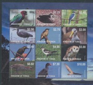 2012 Tonga Birds Postage Stamps #1170 Mint Never Hinged Sheet of 12