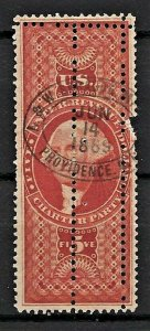 JASTAMPS: US Stamps #R88c mult perfs ERROR hand stamped used