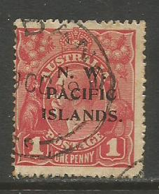 North West Pacific Isl. #41 Used  (Wmk 9) (1918)  c.v. $1.75