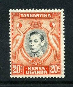 KUT 1938 KGVI 20c perf 13¼ SG 139 mint. Kenya Uganda Tanganyika