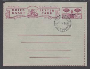 South West Africa H&G G3 used 1949 1½p Letter Card