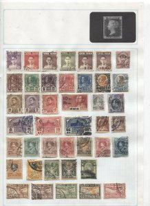 STAMP STATION PERTH -Thailand #155 Mainly Used Stamps on paper - Unchecked