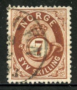 Norway # 21, Used. CV $ 65.00