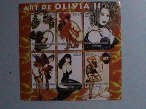 CONGO STAMP:2005 FAMOUS NUDE PAINTING BY OLIVIA MNH-STAMP S/S SHEET