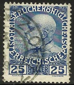 Austria 1908 Scott# 118a Used