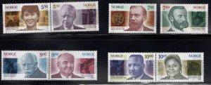 Norway Scott 1308-1315,  2001 Nobel Prize winner set CV $23