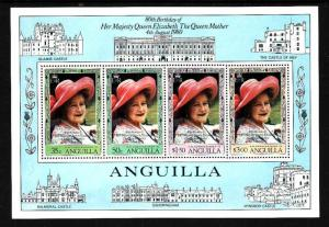 Anguilla-Sc#397a-unused NH sheet-Queen Mother-1980-