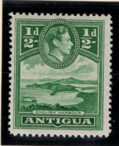 Antigua Stamp Scott #84, Mint Lightly Hinged, 1/2p 1938-48 - Free U.S. Shippi...