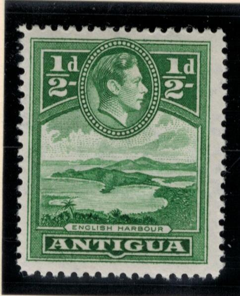 Antigua Stamp Scott #84, Mint Lightly Hinged, 1/2p 1938-48 - Free U.S. Shippi...