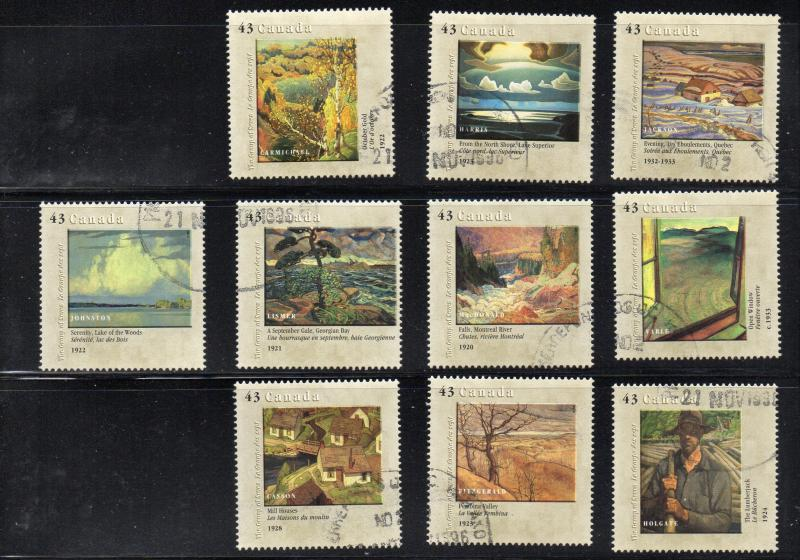 Canada Sc 1559a-61c 1995 Group of  7 stamp set used