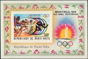 Burkina Faso #387-389, C228-C230, Complete Set(5) + Souvenir Sheet, Imperfora...