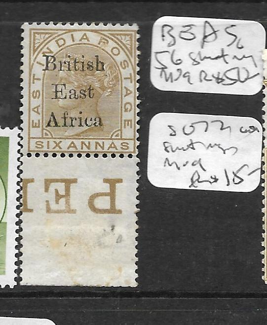 BRITISH EAST AFRICA (P1504B) QV ON INDIA 6A SG 56 IMPRINT SINGLE MOG