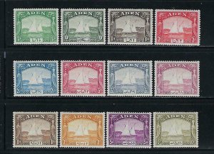 ADEN SCOTT #1-12 1937 DHOW SET  - MINT NEVER HINGED