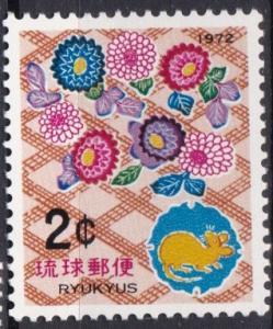 1971 Ryukyu Islands 222 New Year 1972 MNH