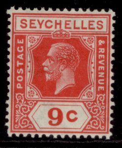 SEYCHELLES GV SG106, 9c red, M MINT.
